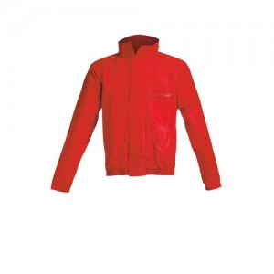 LOGO RAIN SUIT - BLACK/RED
