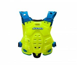 PROFILE CHEST PROTECTOR - FLO YELLOW/BLUE