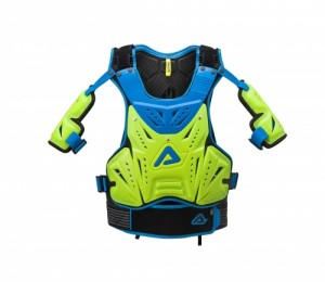 COSMO 2.0 CHEST PROTECTOR - FLO YELLOW/BLUE