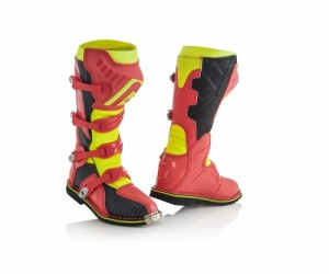 X-PRO V BOOTS - RED/YELLOW
