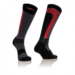 MX X-FLEX SOCKS - BLACK/RED