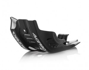 SKID PLATE KTM SXF 450 16/18 + HUSQVARNA FC450 16/18 + FE 450-501 17/19 – BLACK/WHITE