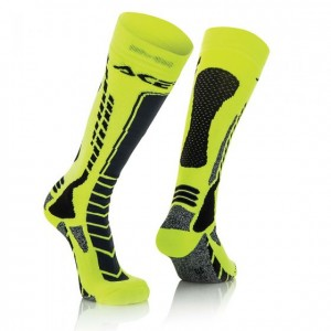 SOCKS MX PRO - BLACK/YELLOW