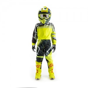MX KID FLASHOVER PANTS - YELLOW/BLACK
