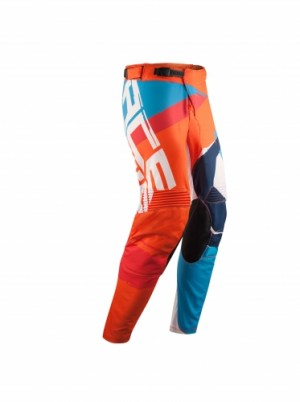 MX STORMCHASER PANTS - ORANGE/BLUE