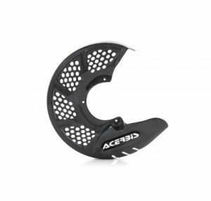 FRONT DISC COVER X-BRAKE VENTED CARBON - GREY