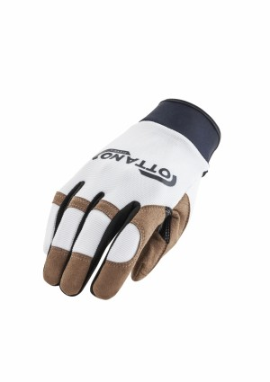 OTTANO  GLOVES 2.0 - WHITE/BROWN