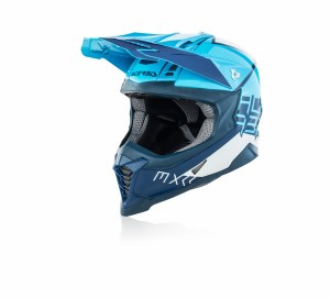 X-RACER VRT HELMET FIBREGLASS - WHITE/BLUE