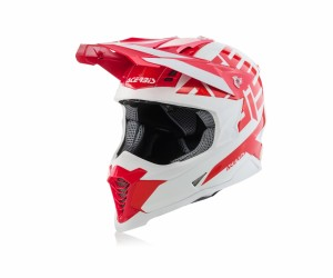 X-RACER VRT HELMET FIBREGLASS - RED/WHITE