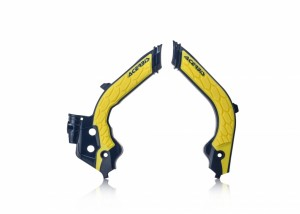 FRAME PROTECTOR X-GRIP HUSQ TC-FC 19 - YELLOW/BLUE