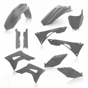 FULL KIT PLASTIC HONDA CRF450 + CRF250 2019  7 pieces - GREY