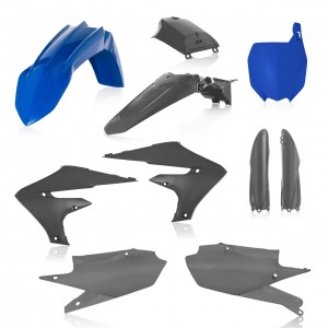 FULL PLASTIC KIT YAMAHA YZF 250 19 + 450 18/19 7 PIECES - BLUE/GREY