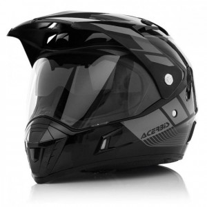 ACTIVE MOTORCYCLE HELMET GRAFFIX - BLACK/GREY