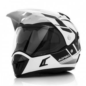 ACTIVE MOTORCYCLE HELMET GRAFFIX - WHITE/BLACK