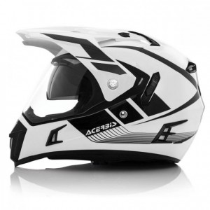 VISOR ACTIVE HELMET - WHITE/BLACK
