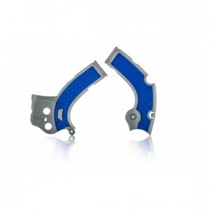 FRAME GUARDS YZF 450 16-17 + YZF 250 17-18 - GREY/BLUE