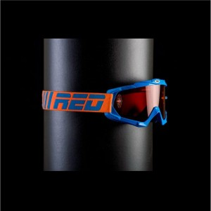 RED tear off goggles HURRICANE 115 - BLUE