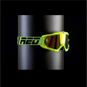 RED tear off goggles HURRICANE 115 - LIME