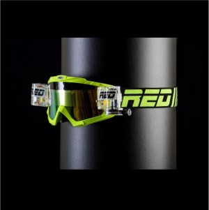 RED roll off goggles HURRICANE 115 - LIME