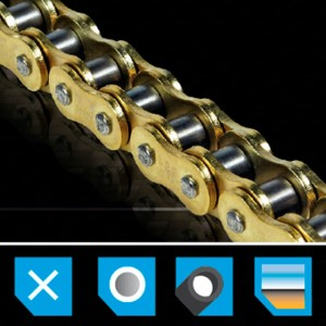 Chain MX PRO 428 - 128 links  - 85cc