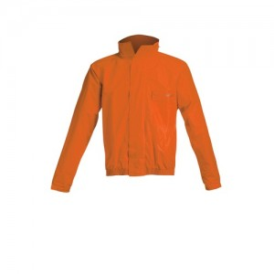 LOGO RAIN SUIT - BLACK/ORANGE