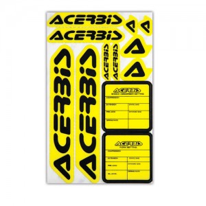 KIT DECAL LOGO ACERBIS - YELLOW/BLACK