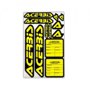 KIT DECAL LOGO ACERBIS - BLACK/YELLOW