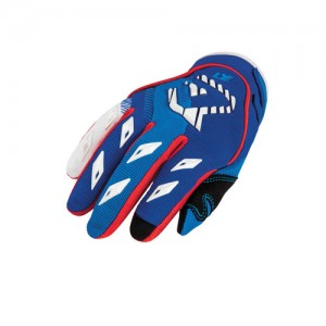 MX KID OFF ROAD GLOVES - BLUE/RED
