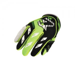 MX KID OFF ROAD GLOVES - GREEN/BLACK - L