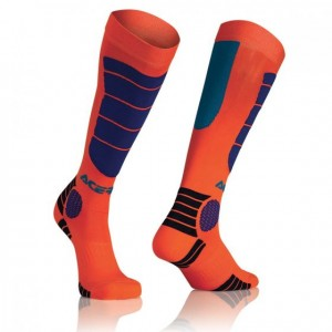 MX IMPACT SOCKS - ORANGE/BLUE