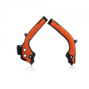FRAME PROTECTOR X-GRIP KTM SX/SXF 2016-2018 + HUSQVARNA 2016-2018 – BLACK/ORANGE