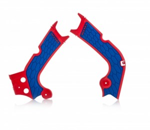 FRAME PROTECTOR X-GRIP CRF450R 2017 - RED/BLUE