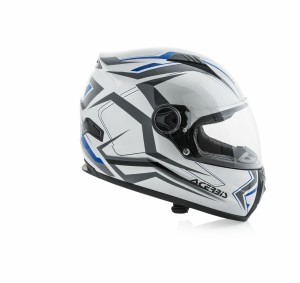HELMET FULL FACE FS-807 - SILVER/BLUE