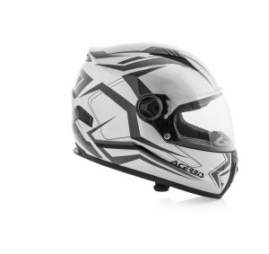 HELMET FULL FACE FS-807 - SILVER/GREY