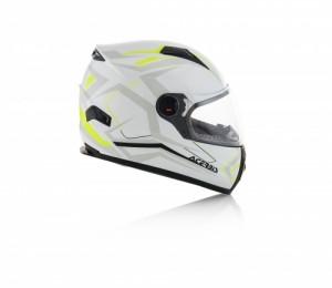 HELMET FULL FACE FS-807 - WHITE/YELLOW