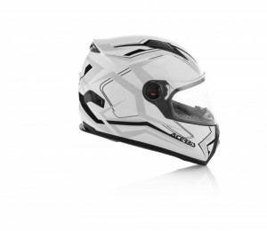 HELMET FULL FACE FS-807 - WHITE/BLACK