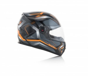 HELMET FULL FACE FS-807 - BLACK/ORANGE