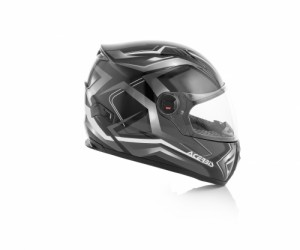HELMET FULL FACE FS-807 - BLACK/WHITE