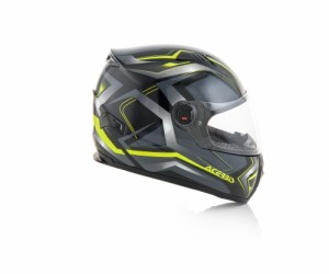 HELMET FULL FACE FS-807 - BLACK/YELLOW
