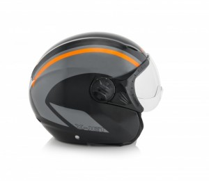 K-JET ON BIKE HELMET - BLACK/FLO ORANGE