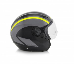 K-JET ON BIKE HELMET - BLACK/FLO YELLOW