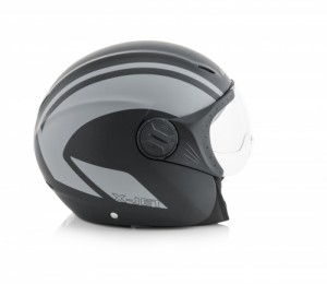 K-JET ON BIKE HELMET - BLACK/GREY