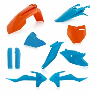 FULL KIT PLASTIC KTM SX 85 2018 - BLUE/ORANGE