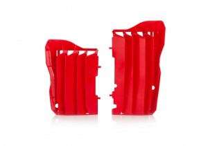 RADIATOR PROTECTORS CRF450 2017-2018 + CRF250 2018 - RED