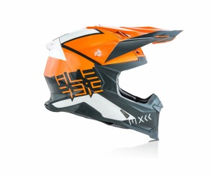 X-RACER VRT HELMET FIBREGLASS - ORANGE/GREY