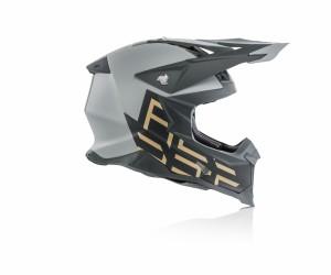 X-RACER VRT HELMET FIBREGLASS - GREY/GOLD
