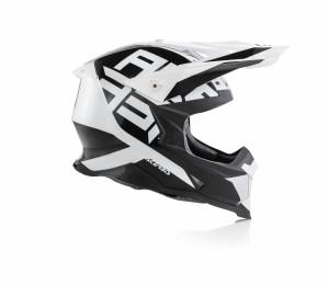 X-RACER VRT HELMET FIBREGLASS - BLACK/WHITE