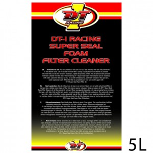 DT-1 RACING SUPER SEAL FOAM  FILTER UNIVERSAL BIO CLEANER - 5 L