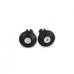 HANDLEBAR END CAPS - BLACK