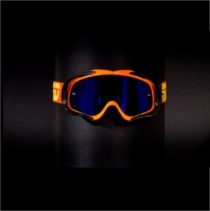RED tear off goggles TYFOON 112 - FLO ORANGE